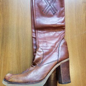 Vintage 80's Leather Boots